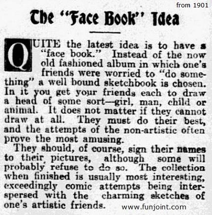The Face Book Idea Circa 1901