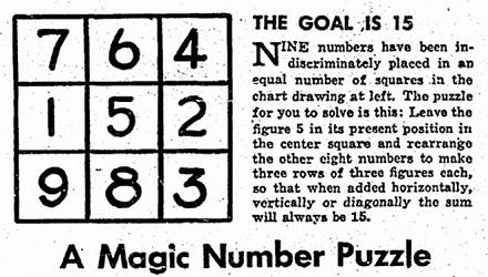 Magic Number Puzzle