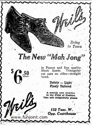 Mah Jong Shoes from 1920s